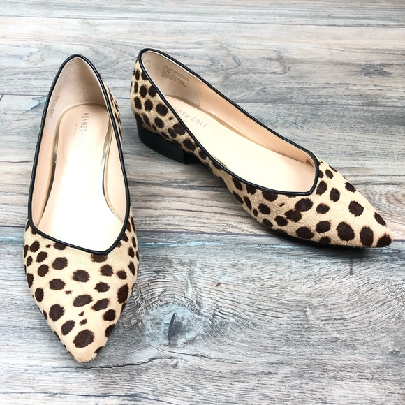 Kenneth Cole Camelia Leopard Flats Size
